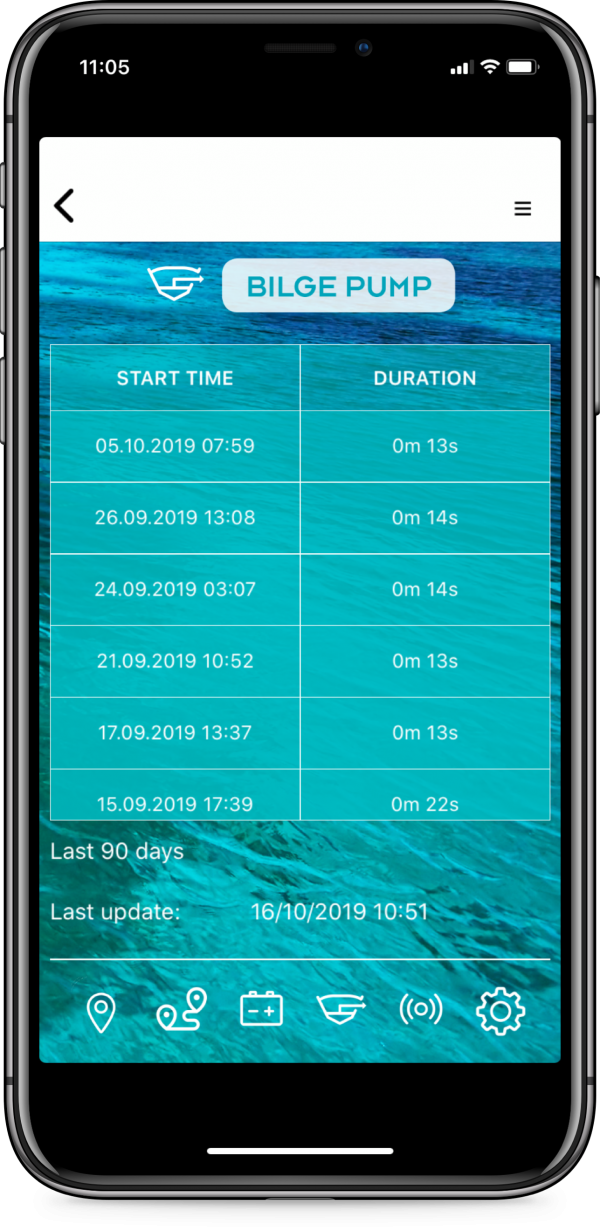 boat engine monitoring system